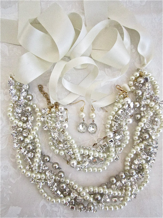 Statement necklace for Weddington Way